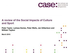 Social Impacts of Culture and Sport
